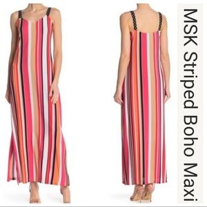 Brand New! MSK Multi-Colored Striped Dress Size S
